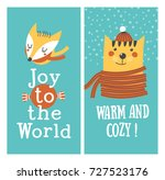 holiday cards   warm and cozy.... | Shutterstock .eps vector #727523176