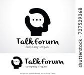 talk forum logo template design ... | Shutterstock .eps vector #727529368