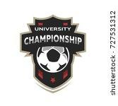 college league  soccer logo.   Shutterstock .eps vector #727531312