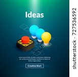 ideas poster of isometric color ... | Shutterstock .eps vector #727536592
