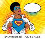 female superhero. young sexy... | Shutterstock .eps vector #727537186