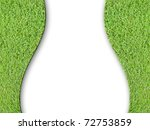 lady curve and green grass... | Shutterstock . vector #72753859