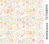 hand drawn medicine doodle.... | Shutterstock .eps vector #727538995