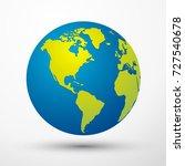 world globe america | Shutterstock .eps vector #727540678