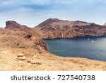 sailing yachts in bay of ponta... | Shutterstock . vector #727540738