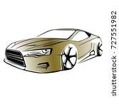 sport car. modern car on a... | Shutterstock .eps vector #727551982