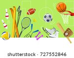 sports colorful background ... | Shutterstock .eps vector #727552846