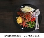 traditional dish of rice fried... | Shutterstock . vector #727553116