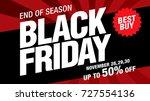 black friday sale banner layout ...   Shutterstock .eps vector #727554136