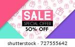 sale banner template design.... | Shutterstock .eps vector #727555642