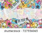 music concept. musical... | Shutterstock .eps vector #727556065
