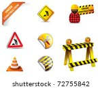 under construction sign and... | Shutterstock .eps vector #72755842