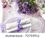 Table Setting In Purple Color ...