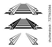 steel train rail track profile... | Shutterstock .eps vector #727561066