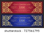 luxury red and blue gift... | Shutterstock .eps vector #727561795
