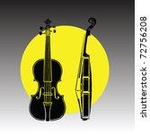 violin vector | Shutterstock .eps vector #72756208