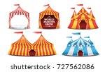 circus tent set vector.... | Shutterstock .eps vector #727562086