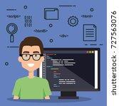 software language programmer... | Shutterstock .eps vector #727563076