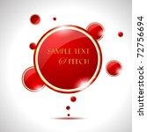 Elegant Glossy Red Speech Bubble