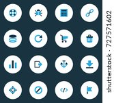 user colorful icons set.... | Shutterstock .eps vector #727571602