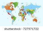 color world map | Shutterstock .eps vector #727571722