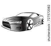 sport car. modern car on a... | Shutterstock .eps vector #727572082