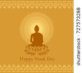 happy vesak day with buddha... | Shutterstock .eps vector #727573288