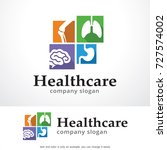 health care logo template... | Shutterstock .eps vector #727574002