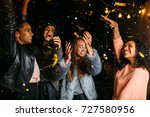 happy women enjoying party at