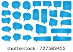 speech bubbles set. different... | Shutterstock .eps vector #727583452