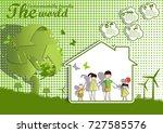 environmentally friendly world... | Shutterstock .eps vector #727585576