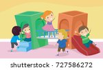 illustration of stickman kids... | Shutterstock .eps vector #727586272