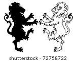 heraldic lion vector... | Shutterstock .eps vector #72758722