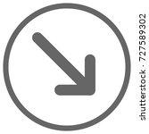 pointer  arrow in modern flat... | Shutterstock . vector #727589302