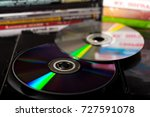 compact discs and disc boxes | Shutterstock . vector #727591078