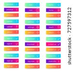 colorful set of web buttons.... | Shutterstock .eps vector #727597312