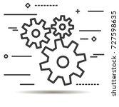 flat line design graphic image... | Shutterstock . vector #727598635