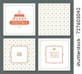 christmas greeting card vector... | Shutterstock .eps vector #727603042