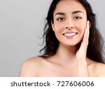 woman beauty face portrait... | Shutterstock . vector #727606006