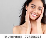 woman beauty face portrait... | Shutterstock . vector #727606315