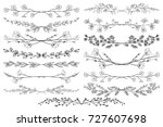 black hand drawn doodle... | Shutterstock .eps vector #727607698