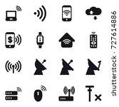 16 vector icon set   notebook... | Shutterstock .eps vector #727614886