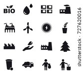 16 vector icon set   bio  panel ... | Shutterstock .eps vector #727620016