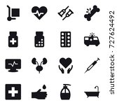16 vector icon set   cargo... | Shutterstock .eps vector #727624492