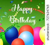 realistic colorful birthday... | Shutterstock .eps vector #727624765
