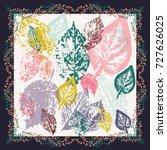 autumn square arrangement from...   Shutterstock .eps vector #727626025