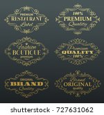 vintage vector banners labels... | Shutterstock .eps vector #727631062