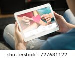 online dating concept.... | Shutterstock . vector #727631122