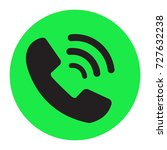 phone black icon in trendy flat ...
