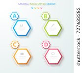 infographic elements with... | Shutterstock .eps vector #727633282